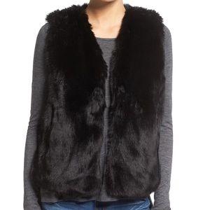 {Madewell} Faux Fur Vest Size L